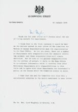 James Callaghan Typed Letter Signed